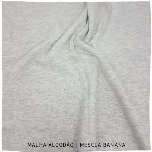 Malha Algodão Mescla Banana 50x1,80m (tubular)