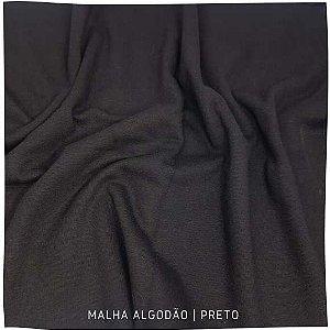 Malha Algodão Preto 50x1,80m (tubular)