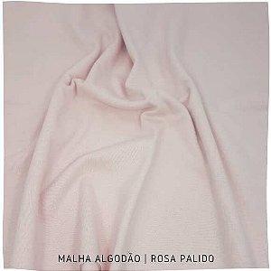 Malha 100%Algodão Penteada Rosa Palido 50cm x 1,80m (tubular)