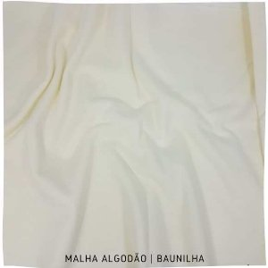 Malha Algodão Baunilha 50cm x 1,80m (tubular)