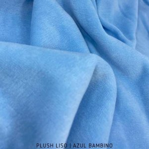 Plush Azul Bambino Tecido Aveludado 50CM X 1.70M