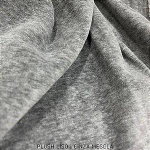 Plush Cinza Mescla Tecido Aveludado 50CM X 1.70M