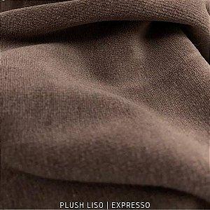 Plush Marrom Expresso Tecido Aveludado 50CM X 1.70M