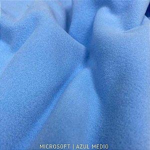 Microsoft Liso Azul Médio 50cm X 1,60m