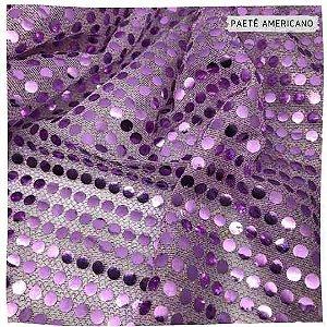 Paetê Americano Lilás 50x1,10cm
