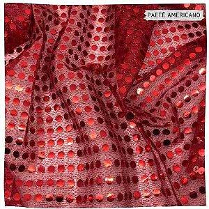 Paetê Americano Vermelho 50cm x 1,10m