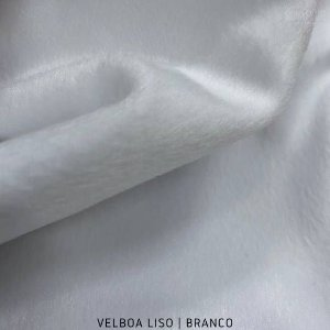 Velboa Branco  50cm x 1,50m