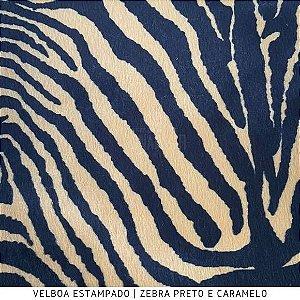 Velboa Estampado Zebra Caramelo  50cm x 1,50m