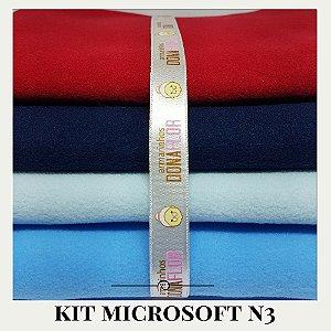 Kit Microsoft N3 4tecidos 30x80cm