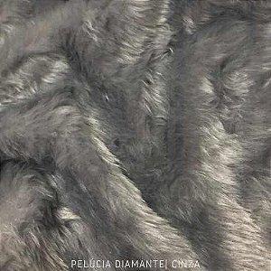 Pelúcia Diamante Cinza Clara 50cm x 1,60m