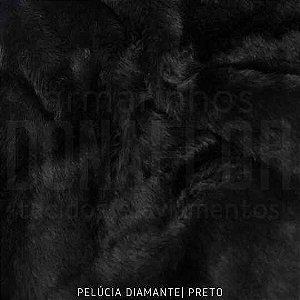 Pelúcia Diamante Preto 50cm x 1,60m