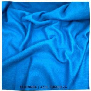 Pluminha Azul Turquesa 50cm x 1,40m