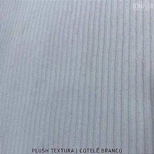 Plush Textura Cotelê Branco tecido Desenhos em Relevo 50cmx1,70m