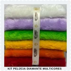 Kit Pelúcia Diamante Multicores 6 tecidos 30x80cm
