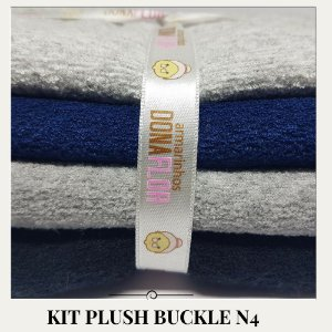 Kit Plush Buckle N4  4tecidos 30x75cm