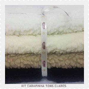 kit  Carapinha Tons claros  4Tecidos 30x70M