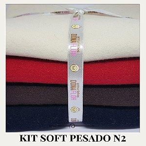 Kit Soft Pesado N2 4tecidos 30x80cm