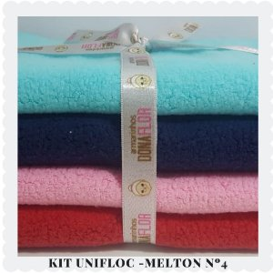 Kit Unifloc-Melton N4 4tecidos 30x80cm