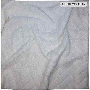 Plush Textura Escamas Branco 50x1,70M