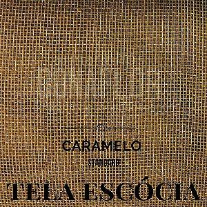Tela Escócia  Caramelo  50X65cm