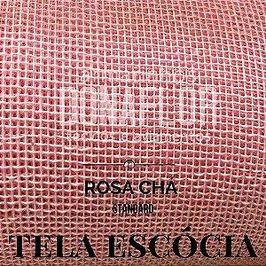 Tela Escócia Rosa Chá  50cmX65cm