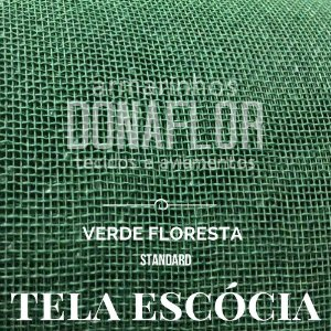 Tela Escócia Verde Floresta 50cmx65cm