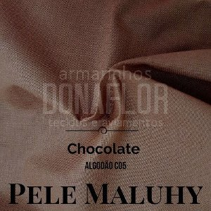 Tricoline 100%Algodão Chocolate 50cmx1,50m Maluhy