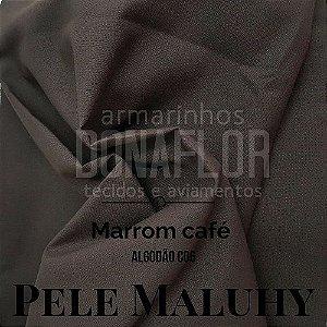 Tricoline 100%Algodão Marrom Café 50cmx1,50m Maluhy