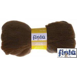 Lã crua penteada Fiolã marrom 50gr