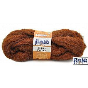 Lã crua penteada fiolã caramelo 50gr