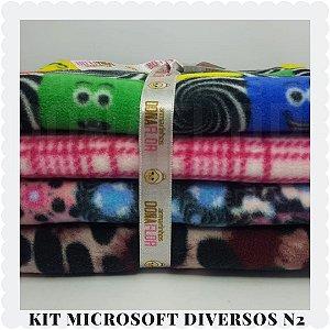 Kit Microsoft Estampado N2 | 4tecidos 30x80cm