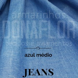 Jeans Leve Azul Médio 50x1,50cm