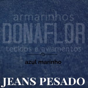 Jeans Pesado Azul Marinho 50cm x 1,60cm