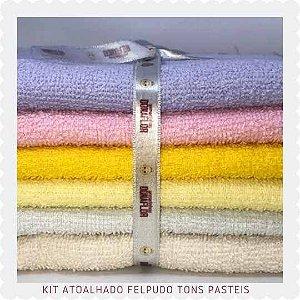 Kit Atoalhado Felpudo tons Claros 6 recortes 30x1,40cm