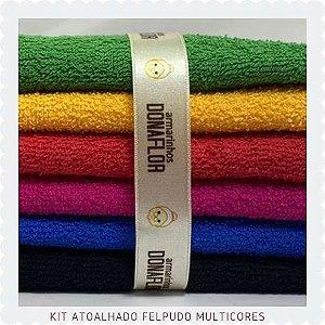 Kit Atoalhado Felpudo tons Fortes 6recortes 30cm x 1,50cm