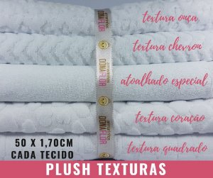 Plush Textura 5Cortes brancos 50x1,70m cada
