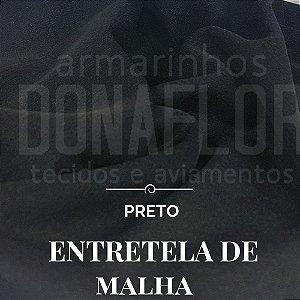 Entretela de Malha Preto 50cmx1,50cm