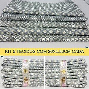 Kit 5 Tecidos Algodão Fabricart N3