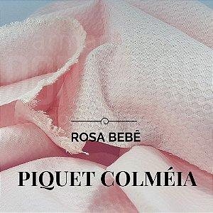 Piquet Colmeia Rosa Bebê  50cm x 1,45m