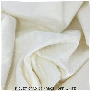 Piquet Grão de Arroz Off-White 50cmx1,45m