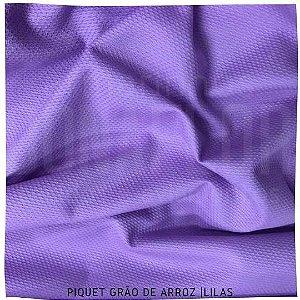 Piquet Grão de Arroz Lilás 50cm x 1,45m