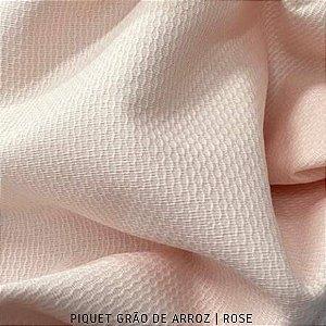 Piquet Grão de Arroz Rose 50cm x 1,45m