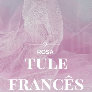 Tule Francês Rosa  50x2,40cm