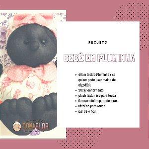Bebê em Pluminha Kit Projeto + Tecidos