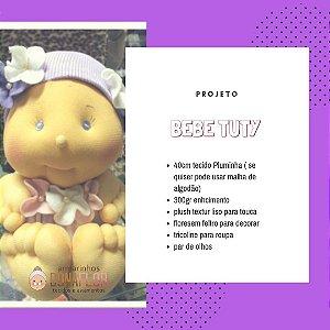Bebê em Pluminha Tuty Kit Projeto + Tecidos