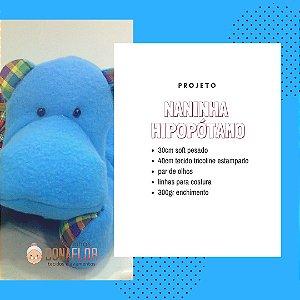 Naninha Hipopótamo Kit Projeto + Tecidos