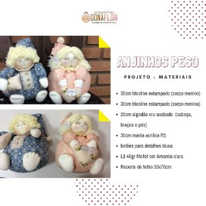 Anjinhos peso Kit Projeto + Tecidos