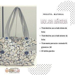 Bolsa Básica Kit Projeto + Tecidos