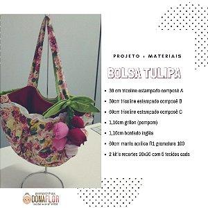 Bolsa Tulipa Kit Projeto + Tecidos
