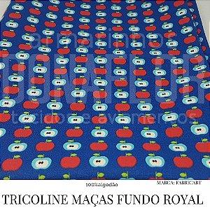 Tricoline Macas Fundo Royal 50X1,40largura
